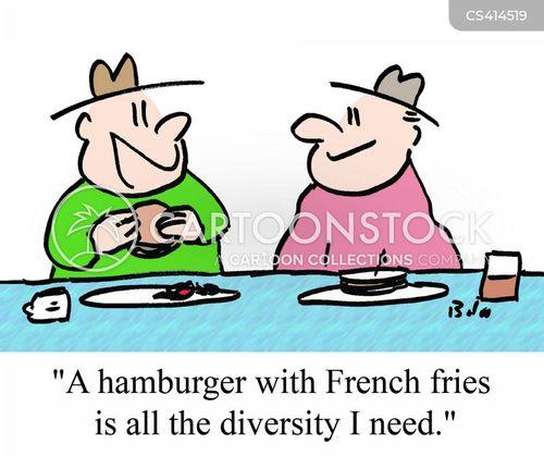 american cuisine cartoon
