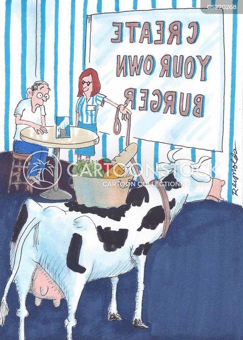 beef burgers cartoon