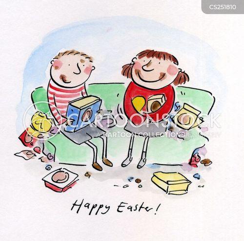 happy easter cartoon