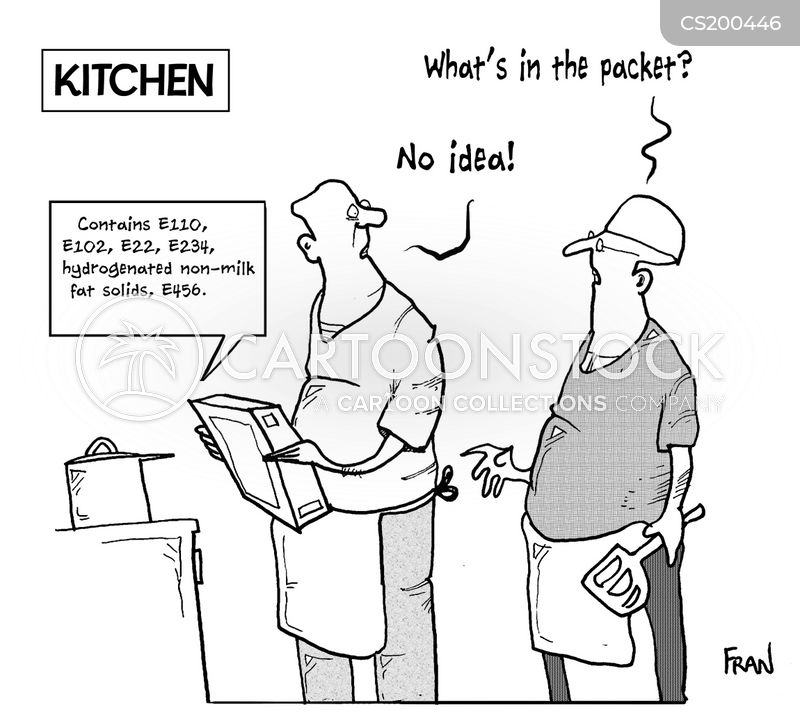 processed foods cartoon