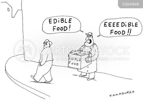 food sellers cartoon