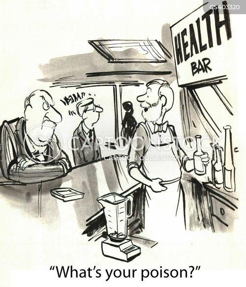 health drink cartoon
