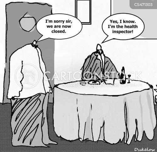 restaurant inspection cartoon