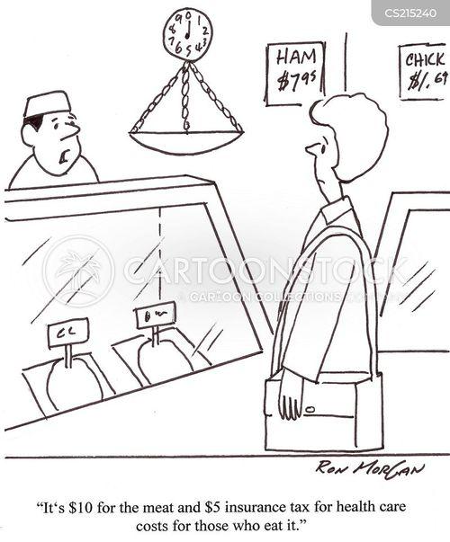 health care cost cartoon
