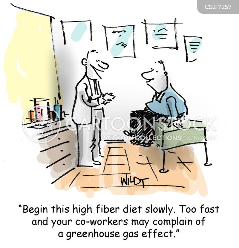 high-fiber diet cartoon
