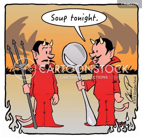 soup spoon cartoon
