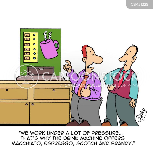 drinks machine cartoon