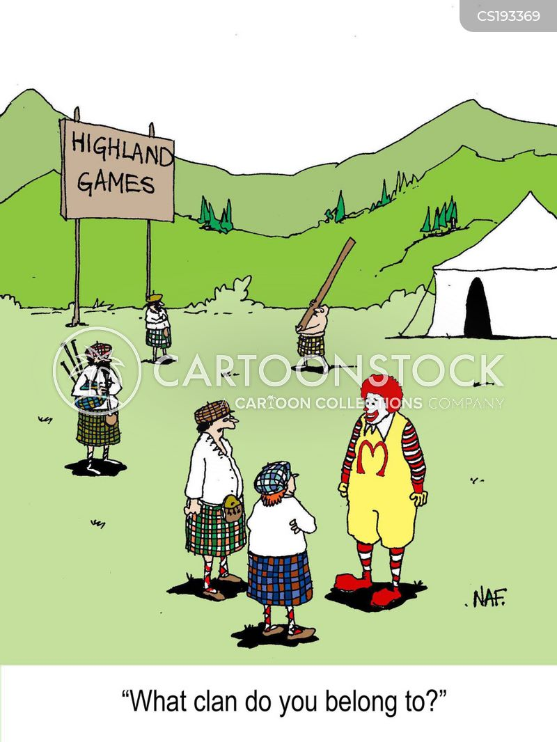 highland games cartoon