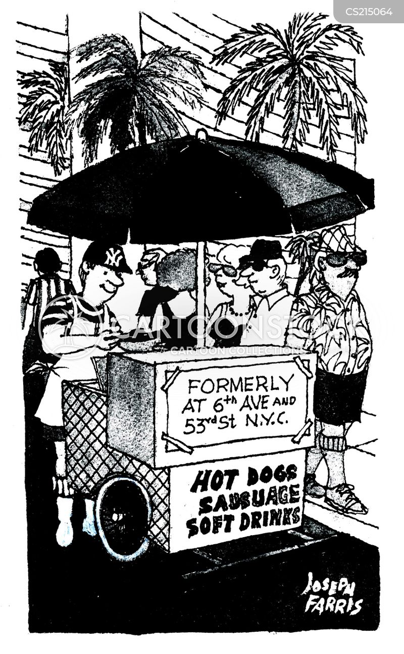 hotdog stand cartoon