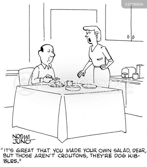 croutons cartoon