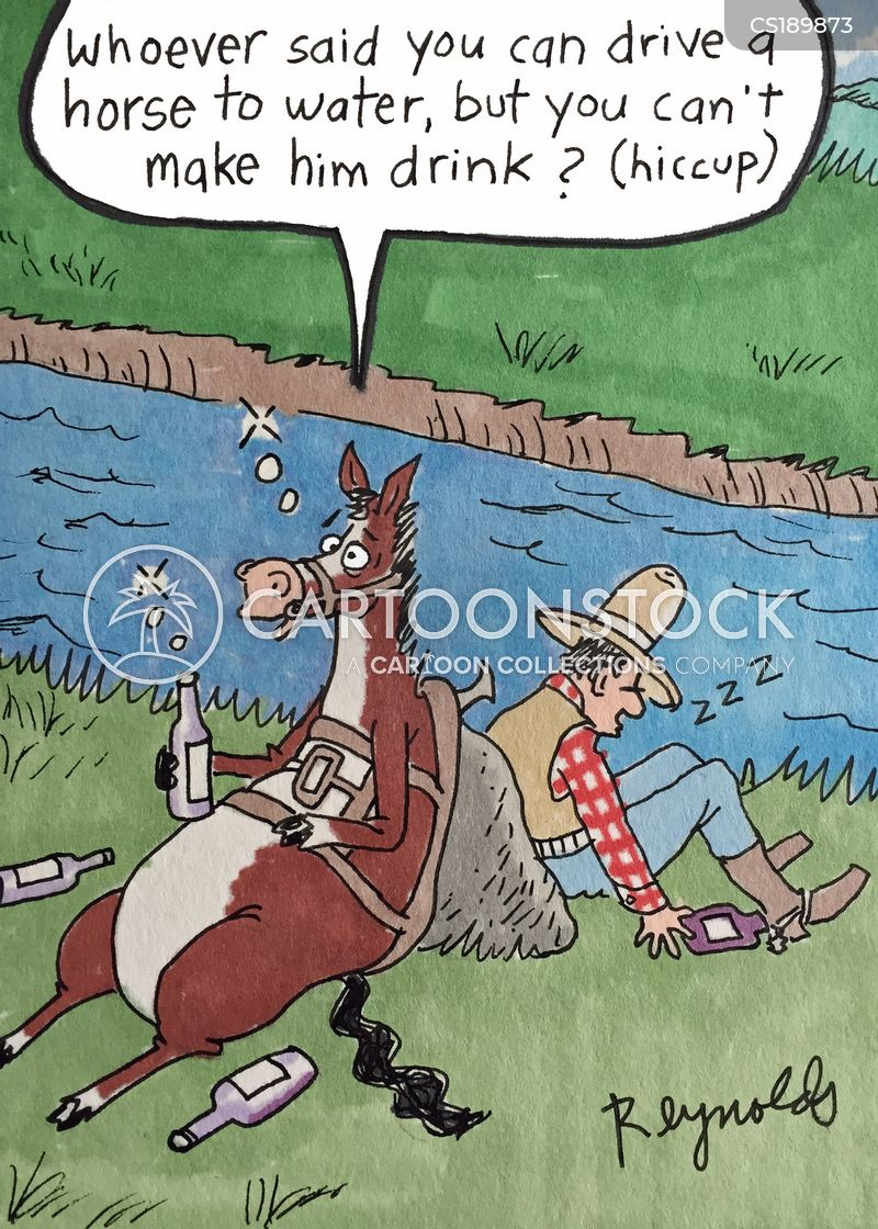 lead a horse to water cartoon