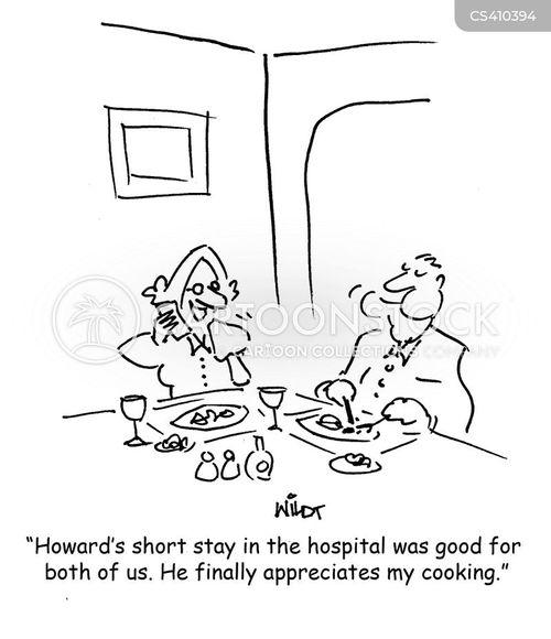 hospital meal cartoon