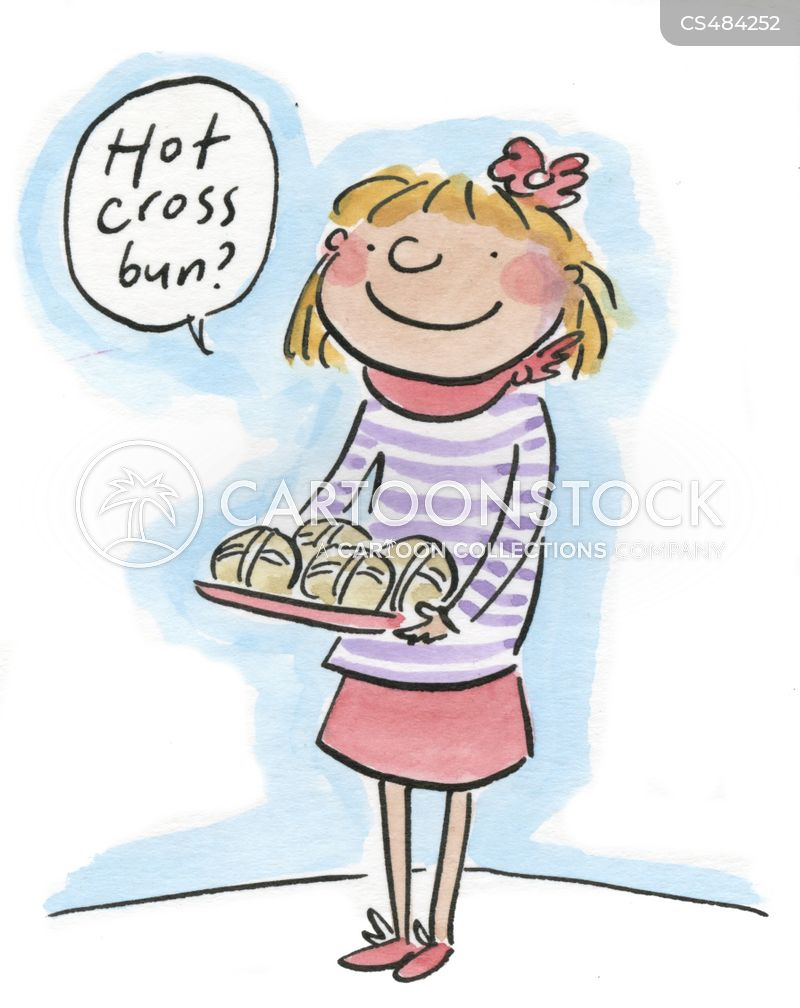 hot cross bun cartoon