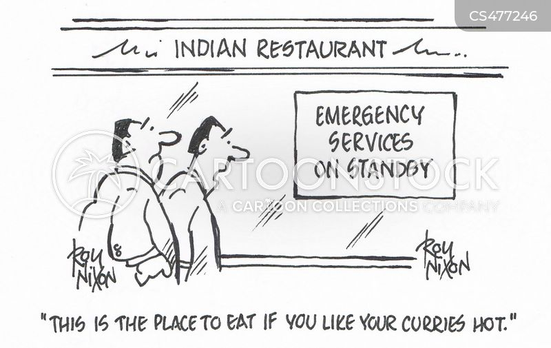 hot curry cartoon