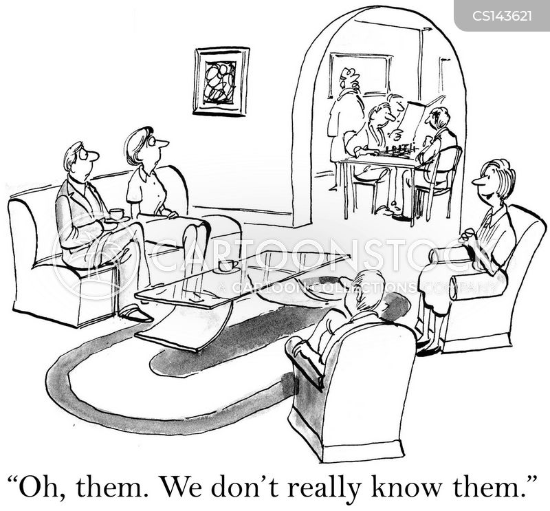 houseguests cartoon