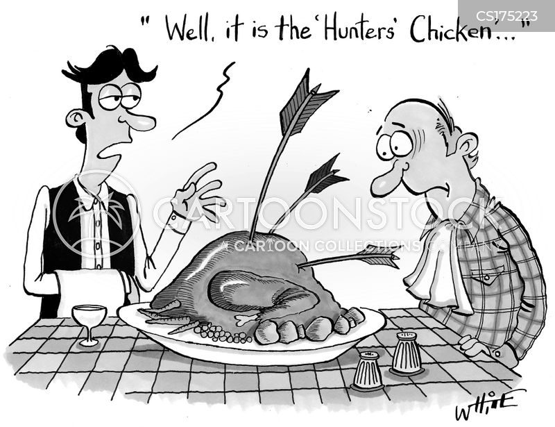 hunters chicken cartoon
