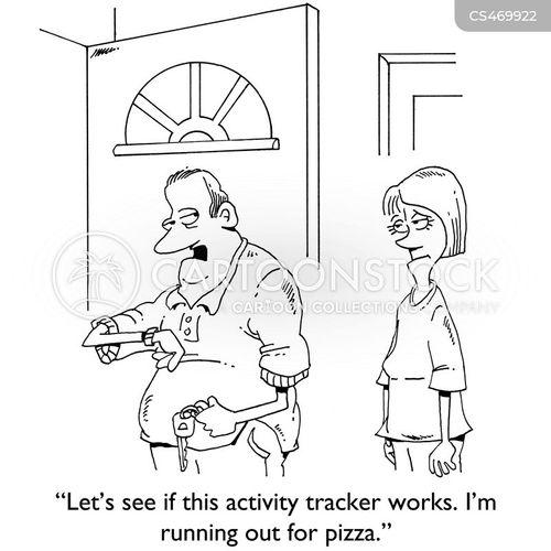 activity trackers cartoon