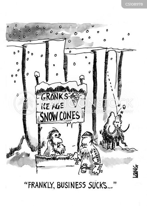 snow cones cartoon