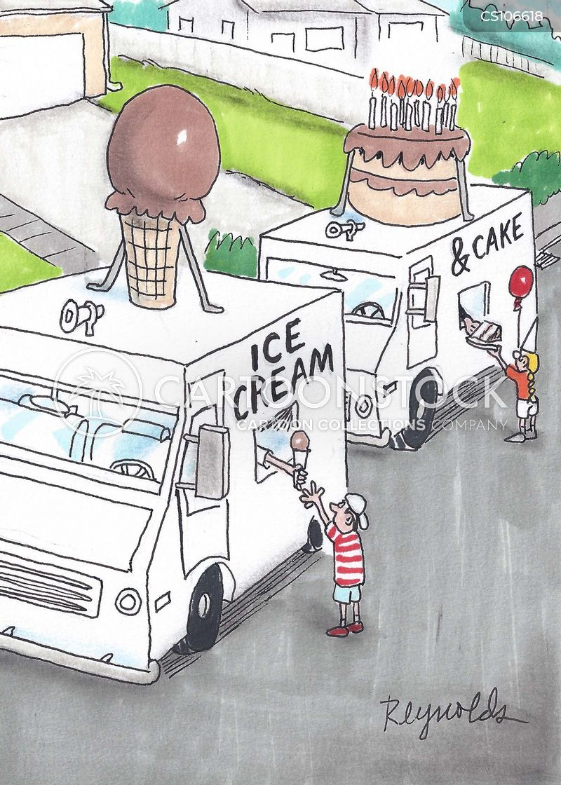 ice cream vans cartoon