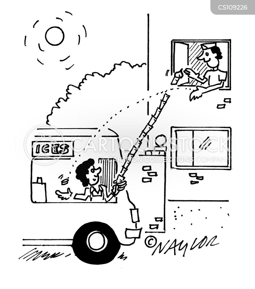 ice cream man cartoon