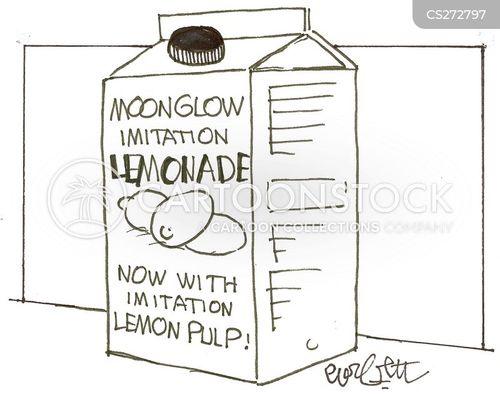 drinking lemonade cartoon