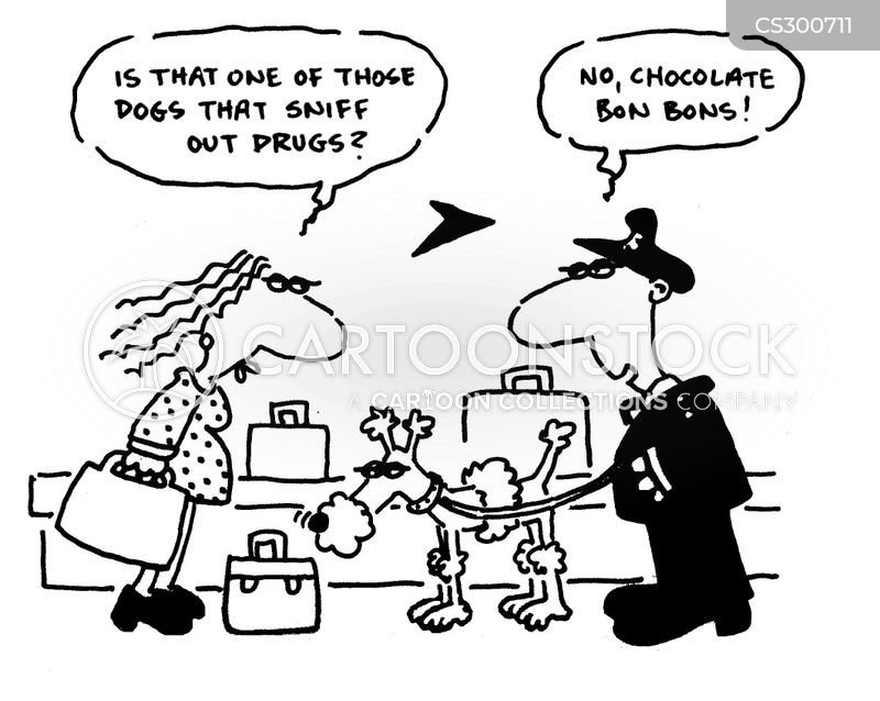 drugs dog cartoon