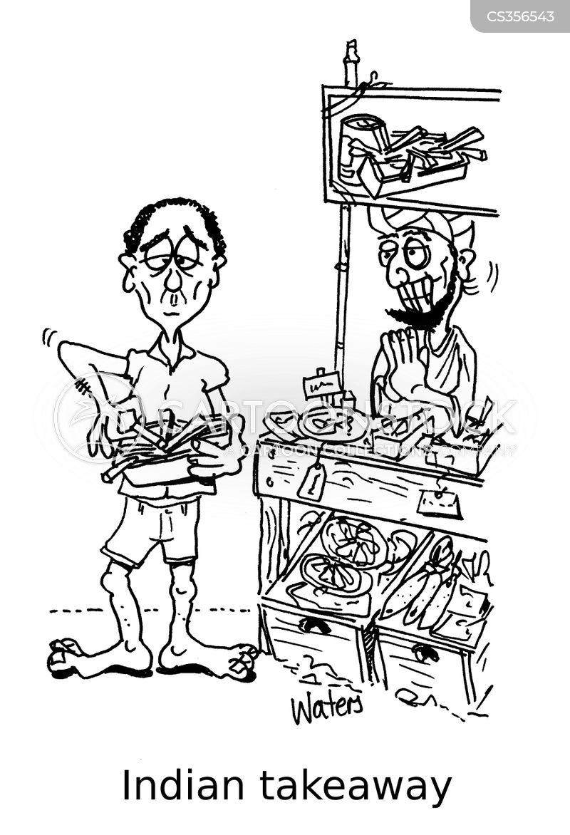 indian food cartoon