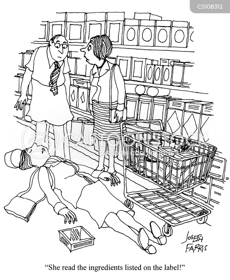 food label cartoon