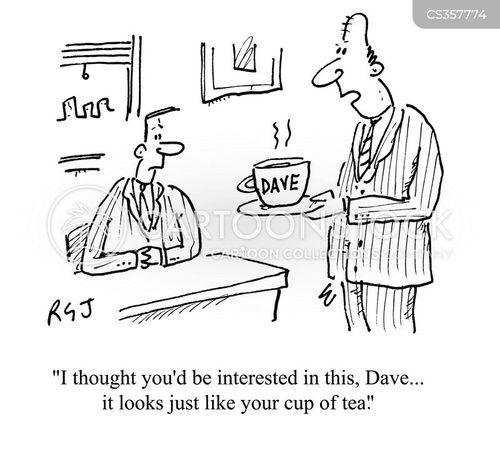 drinking tea cartoon