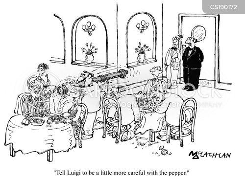 italian restaurants cartoon