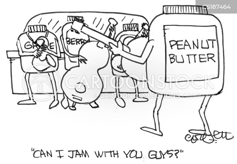 peanut butter and jam cartoon
