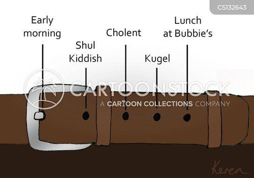 jewish foods cartoon