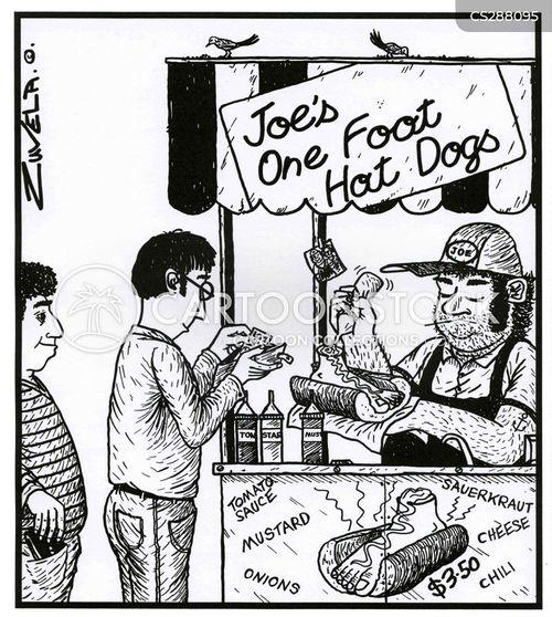 foot long hot dog cartoon