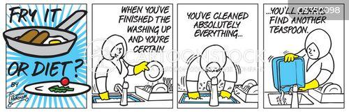 doing dishes cartoon