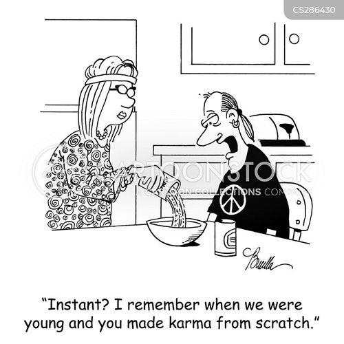 instant foods cartoon