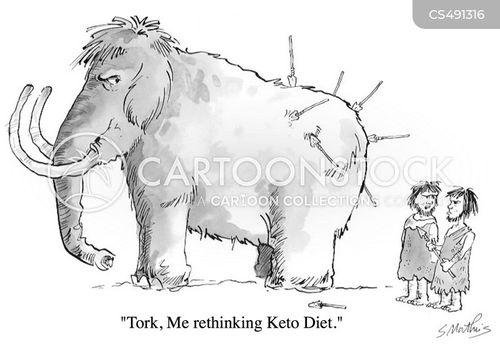 low-carb diet cartoon