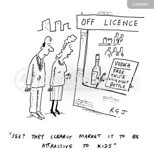 knife crimes cartoon