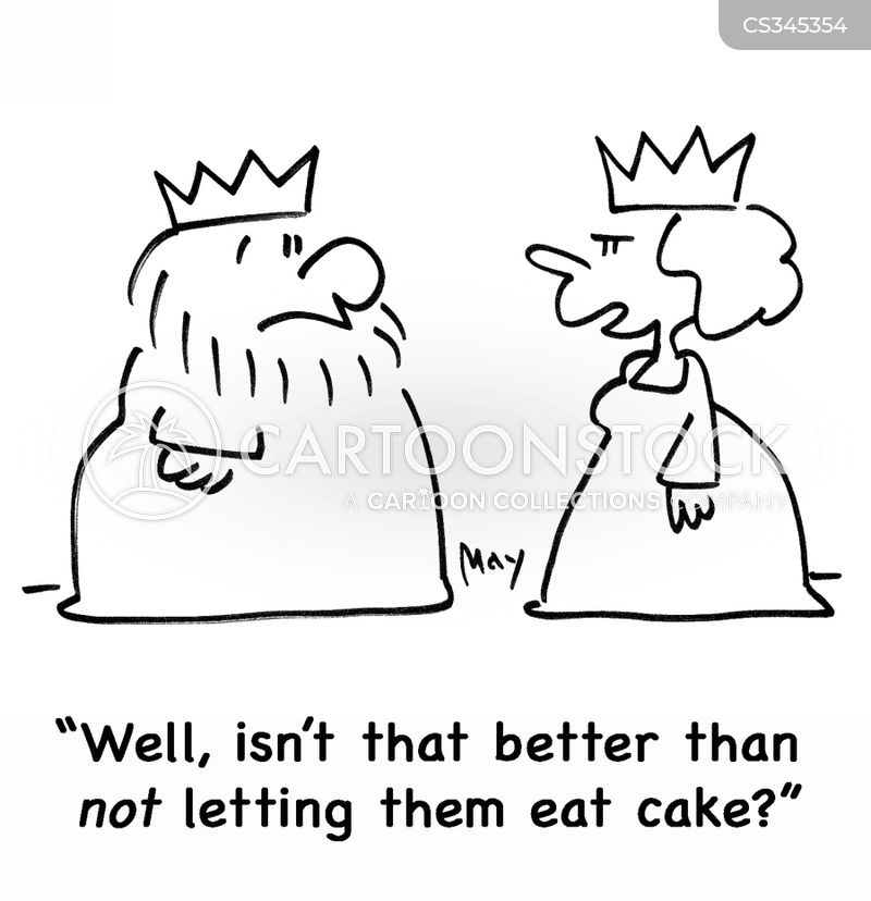 let them eat cake cartoon