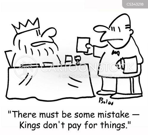 pay the bill cartoon