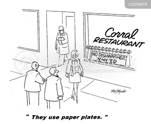 dishwashing cartoon