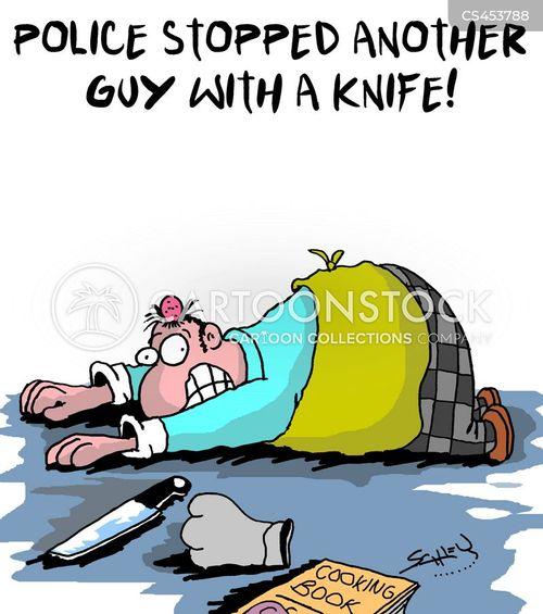 knife attacks cartoon