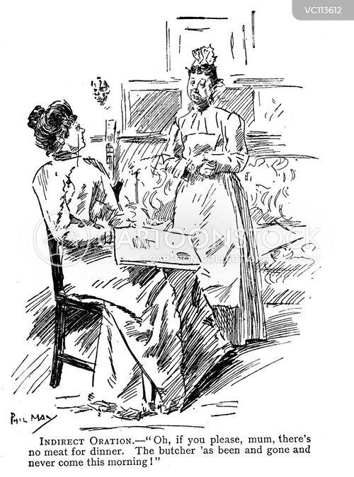 maid servants vintage and historic cartoons