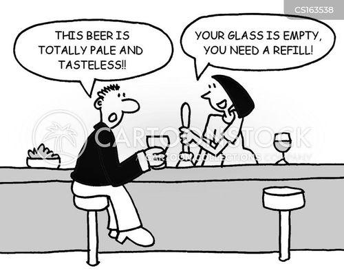 empty glass cartoon