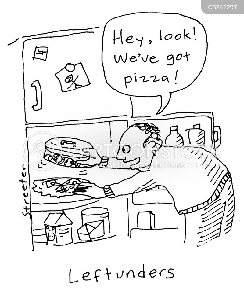cold pizza cartoon