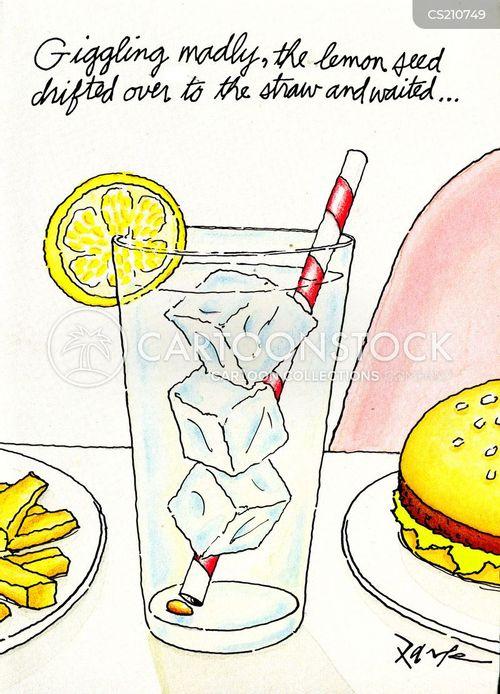 straws cartoon
