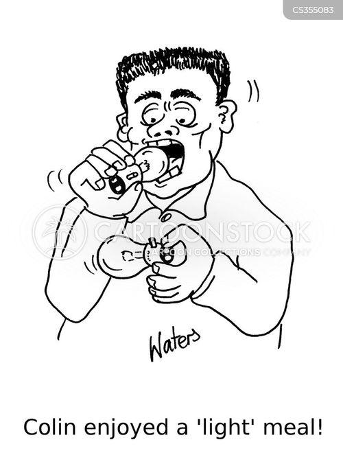 eating between meals cartoon