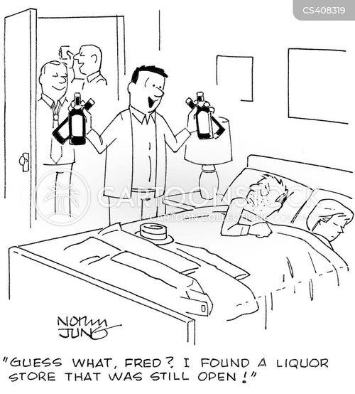liquor shops cartoon