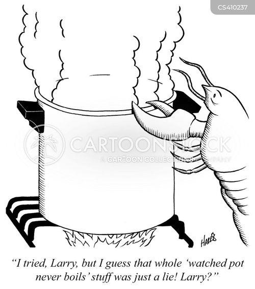 watched pot never boils cartoon