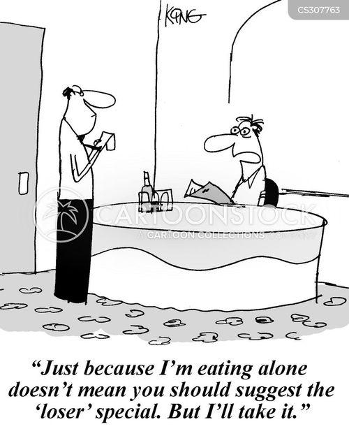 eat alone cartoon