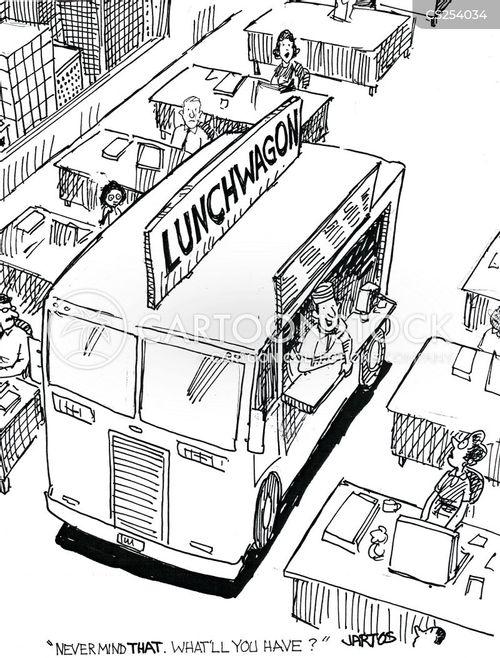takeaway food cartoon